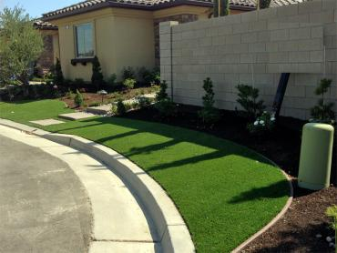 Artificial Grass Photos: Artificial Turf Installation Ness City, Kansas Landscape Design, Small Front Yard Landscaping